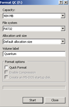 FormatFlashDisk