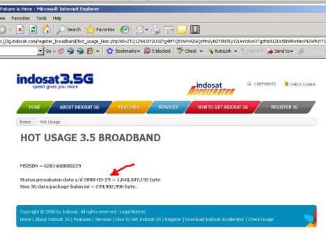 billing indosat 3g web